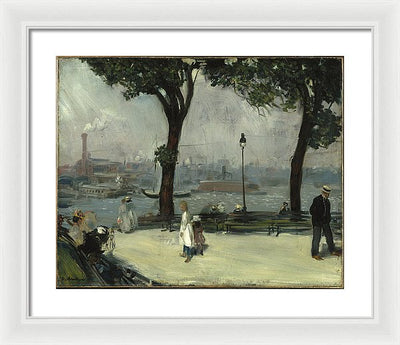 William James Glackens East River Park Framed Canvas Ready To Hang Classical Art Giclee Wall Art Print Interior Design Museum Quality