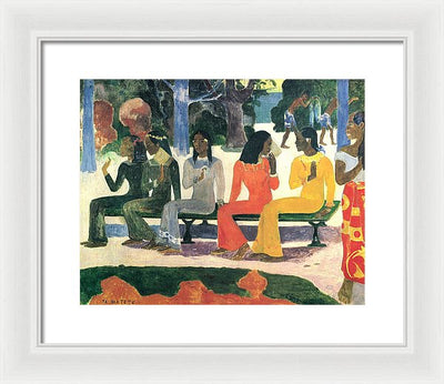 Paul Gauguin We Shall Not Go to Market Today Framed Canvas Ready To Hang Classical Art Giclee Wall Art Print Interior Design Museum Quality