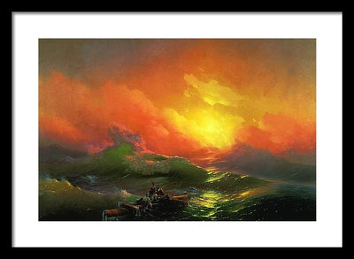 Ivan Aivazovsky The Ninth Wave Framed Canvas Ready To Hang Classical Art Giclee Wall Art Print Interior Design Museum Quality