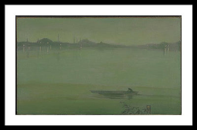 James Abbot McNeil Whistler Thames Nocturne Framed Canvas Ready To Hang Classical Art Giclee Wall Art Print Interior Design Museum Quality