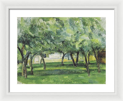 Paul Cezanne Gehoft in der Normandie Framed Canvas Ready To Hang Classical Art Giclee Wall Art Print Interior Design Museum Quality