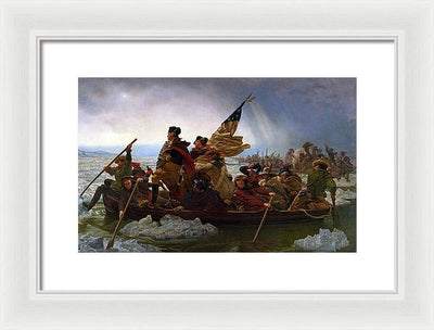 Emanuel Gottlieb Leutze Washington Crossing the Delaware Framed Canvas Ready To Hang Classical Art Giclee Wall Art Print Interior Design Museum Quality
