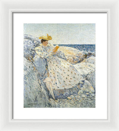 Childe Hassam Summer Sunlight (Isles of Shoals) Framed Canvas Ready To Hang Classical Art Giclee Wall Art Print Interior Design Museum Quality