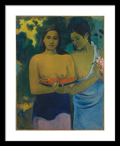Paul Gauguin Two Tahitian Women Framed Canvas Ready To Hang Classical Art Giclee Wall Art Print Interior Design Museum Quality