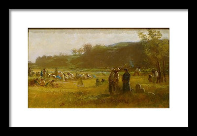 Eastman Johnson Study For The Cranberry Harvest, Island of Nantucket Framed Canvas Ready To Hang Classical Art Giclee Wall Art Print Interior Design Museum Quality