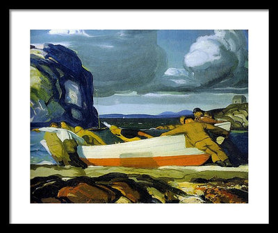 George Wesley Bellows The Big Dory Framed Canvas Ready To Hang Classical Art Giclee Wall Art Print Interior Design Museum Quality