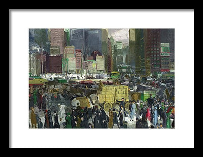 George Wesley Bellows New York Framed Canvas Ready To Hang Classical Art Giclee Wall Art Print Interior Design Museum Quality