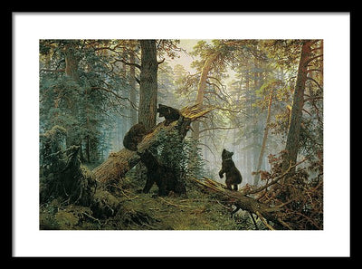 Ivan Shishkin Morning in a Pine Forest Framed Canvas Ready To Hang Classical Art Giclee Wall Art Print Interior Design Museum Quality