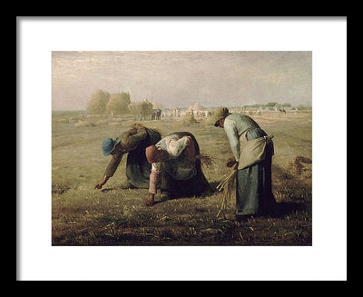 Jean-Francois Millet The Gleaners Framed Canvas Ready To Hang Classical Art Giclee Wall Art Print Interior Design Museum Quality