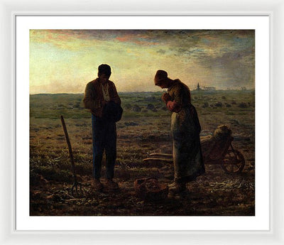 Jean-Francois Millet The Angelus Framed Canvas Ready To Hang Classical Art Giclee Wall Art Print Interior Design Museum Quality