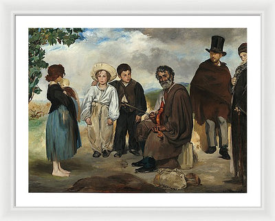 Edouard Manet The Old Musician Framed Canvas Ready To Hang Classical Art Giclee Wall Art Print Interior Design Museum Quality