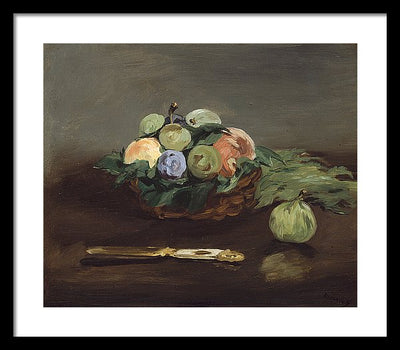 Edouard Manet Basket of Fruit Framed Canvas Ready To Hang Classical Art Giclee Wall Art Print Interior Design Museum Quality