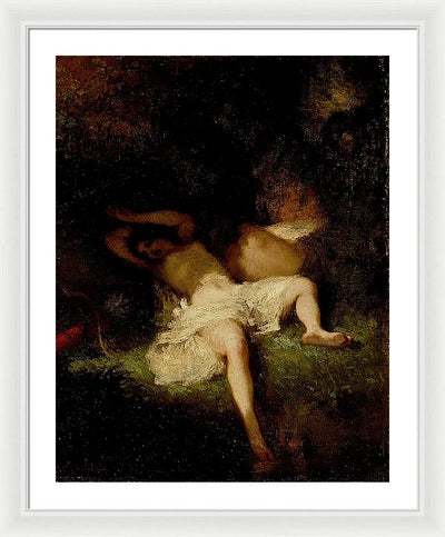 Jean-Francois Millet Diana Resting Framed Canvas Ready To Hang Classical Art Giclee Wall Art Print Interior Design Museum Quality