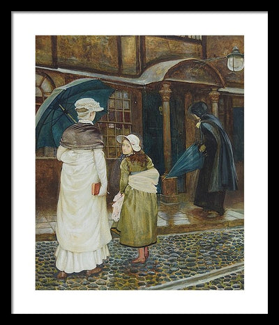 Edward Robert Hughes A Rainy Sunday Framed Canvas Ready To Hang Classical Art Giclee Wall Art Print Interior Design Museum Quality