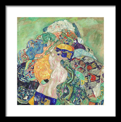 Gustav Klimt Baby Framed Canvas Ready To Hang Classical Art Giclee Wall Art Print Interior Design Museum Quality