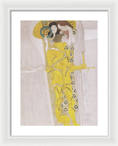 Gustav Klimt Der Wohlgerustete Starke Framed Canvas Ready To Hang Classical Art Giclee Wall Art Print Interior Design Museum Quality