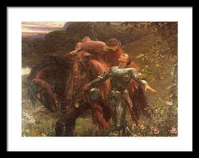 Frank Dicksee La Belle Dame sans Merci Framed Canvas Ready To Hang Classical Art Giclee Wall Art Print Interior Design Museum Quality