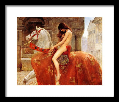 John Collier Lady Godiva Framed Canvas Ready To Hang Classical Art Giclee Wall Art Print Interior Design Museum Quality