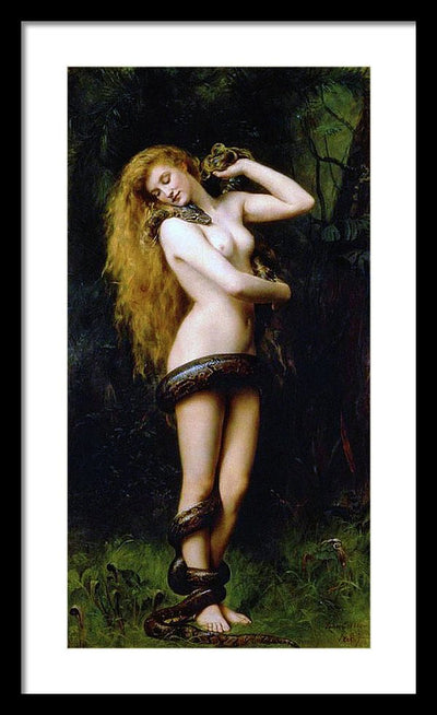 John Collier Lilith Framed Canvas Ready To Hang Classical Art Giclee Wall Art Print Interior Design Museum Quality