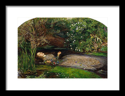 John Everett Millais Ophelia Framed Canvas Ready To Hang Classical Art Giclee Wall Art Print Interior Design Museum Quality