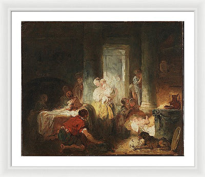 Jean-Honoré Fragonard Roman Interior Framed Canvas Ready To Hang Classical Art Giclee Wall Art Print Interior Design Museum Quality