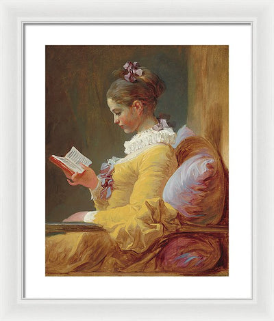 Jean-Honoré Fragonard The Reader Framed Canvas Ready To Hang Classical Art Giclee Wall Art Print Interior Design Museum Quality