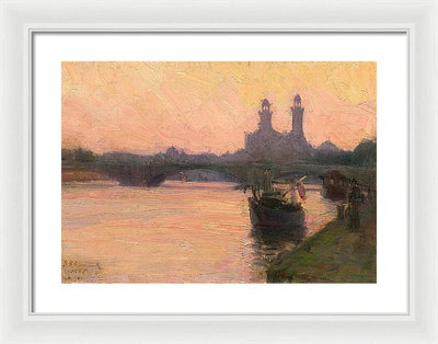 Henry Ossawa Tanner The Seine Framed Canvas Ready To Hang Classical Art Giclee Wall Art Print Interior Design Museum Quality