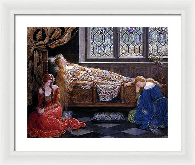 John Collier The Sleeping Beauty Framed Canvas Ready To Hang Classical Art Giclee Wall Art Print Interior Design Museum Quality