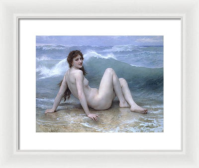 William Adolphe Bouguereau Wave Framed Canvas Ready To Hang Classical Art Giclee Wall Art Print Interior Design Museum Quality
