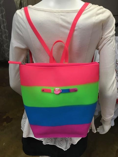 Yummy Gummy zipper bucket bag pink strap