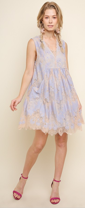 Babydoll dress Sky LB1275