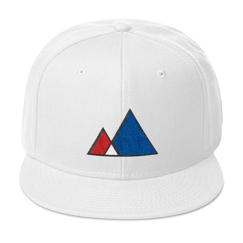 Mountain red blue Snapback