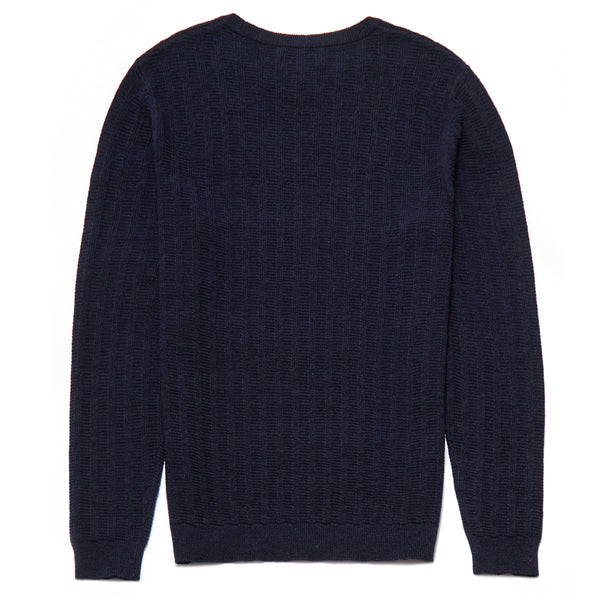 Knightsbridge Lambswool Blend Crew Neck Jumper in Navy - Nines Collection