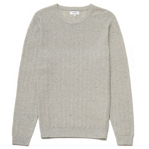 Knightsbridge Lambswool Blend Crew Neck Jumper in Light Grey