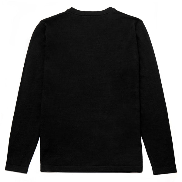 Blenheim Merino Wool Blend Crew Neck Jumper in Black - Nines Collection