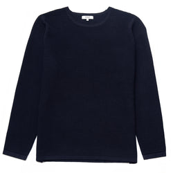 Dunworth Ribbed Crew Neck Jumper in Navy - Nines Collection