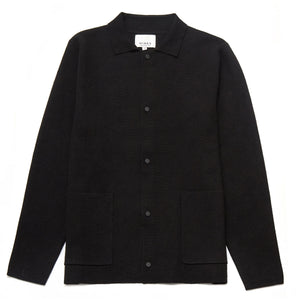 Lexham Merino Wool Blend Cardigan in Black