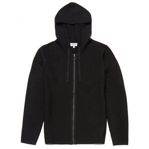Pavilion Hooded Zip Through Cardigan in Black