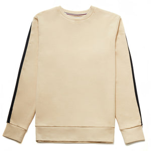 Toshi Crew Neck Tape Sweatshirt in Sand - Nines Collection