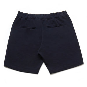 Hydra Cotton Blend Pique Shorts in Navy