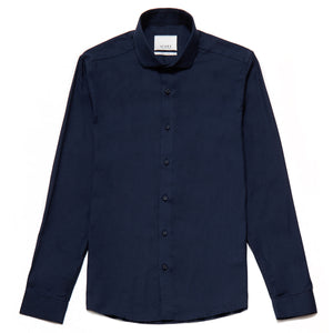 Berg Cotton Twill Slim Fit Shirt in True Navy