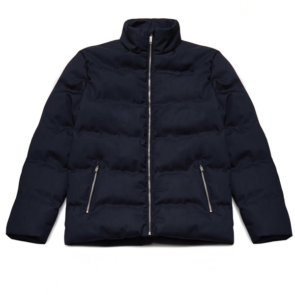 Jarell Puffa Jacket in True Navy - Nines Collection