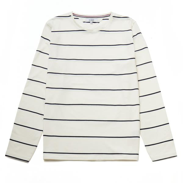 Ecosse Long-Sleeved Mercerised Stripe Top
