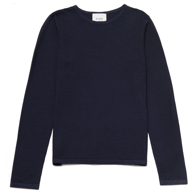 Alaric Textured Crew Neck Jumper