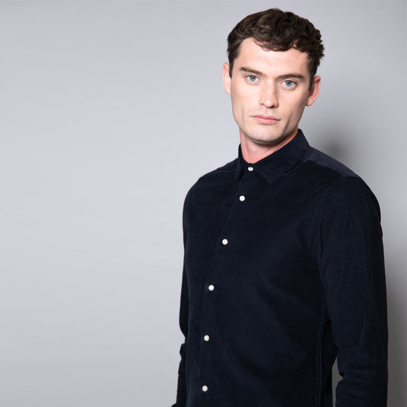 Blyton Slim Fit Corduroy Cotton Shirt