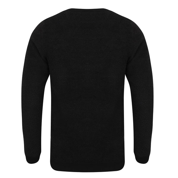 Bonchurch Fluffy Fleece Navy Crew Neck Jumper