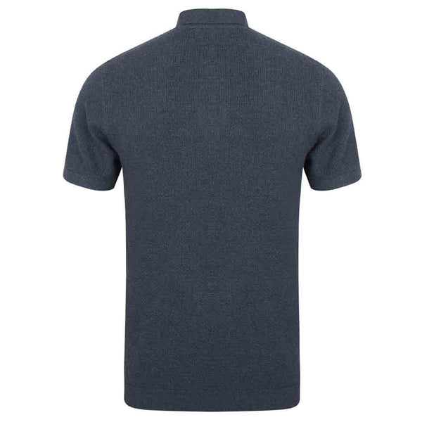 Boulle Textured Polo Shirt With Short Sleeves