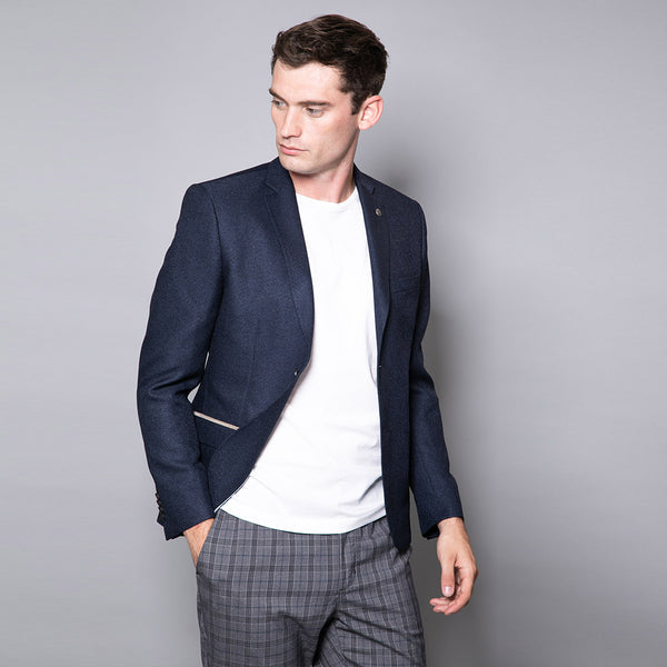 Carlos Navy Slim Fit Jacket