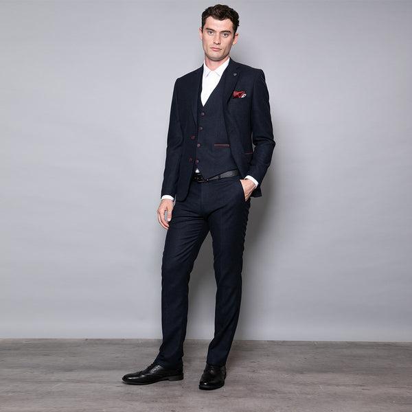 Charlie Slim Fit Navy Three Piece Suit