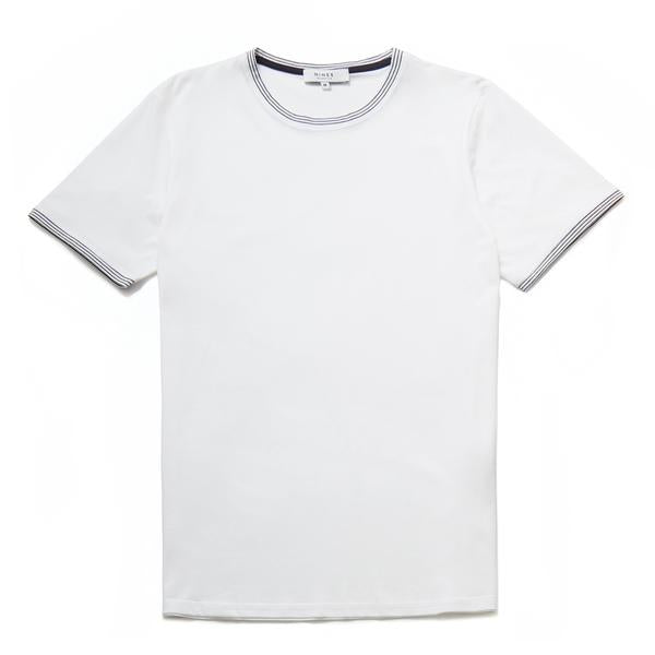 Don Mercerised Stripe Detail Crew Neck T-Shirt